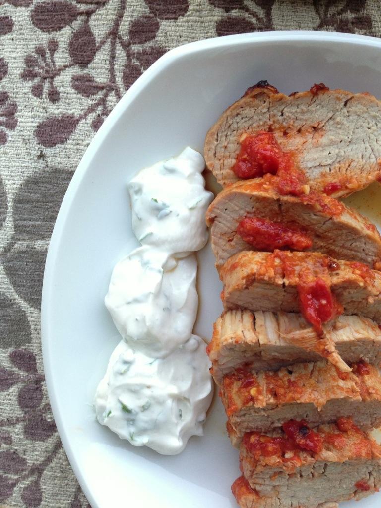 Pork loin yogurt recipe