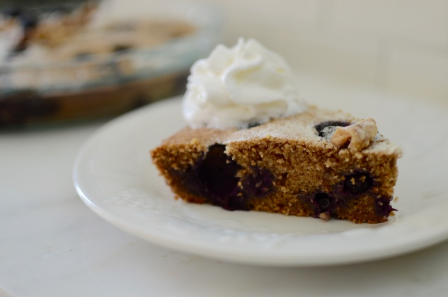 Blueberry Walnut Cake Slice