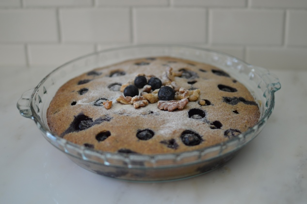 Blueberry Walnut Coffee Cake